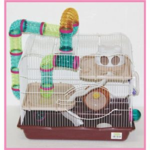 Hamster Wire Cage 2 Storey With  Tubes