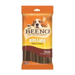 Beeno Rollies With Steak 120G