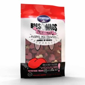 Bag O'Wags Chewies Hearts Mix 120G