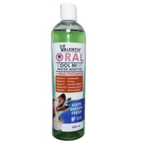 Valentin Oral Cool Mint Water Additive + Multivitamin For Dogs 500Ml
